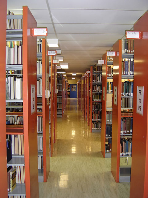 modern library shelving units